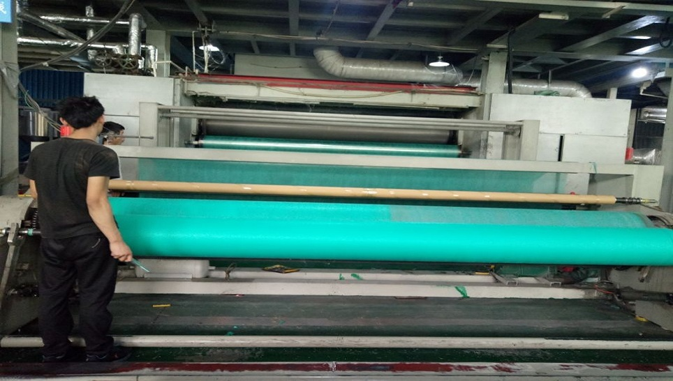 green nonwoven fabric producing
