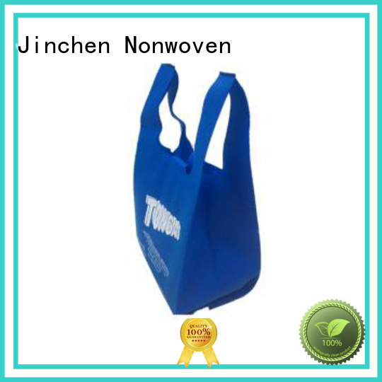 Jinchen printed pp non woven bags with customized logo for shopping mall