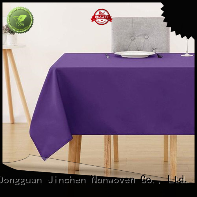 Jinchen waterproof fabric tablecloths with customized service for restaurant