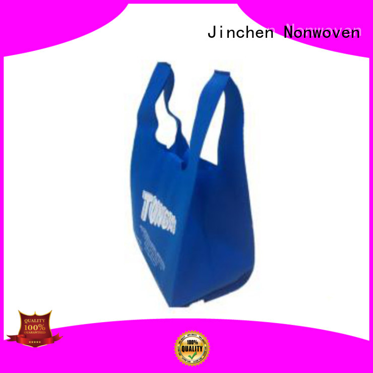 Jinchen t shirt vest u cut non woven bags for busniess for supermarket