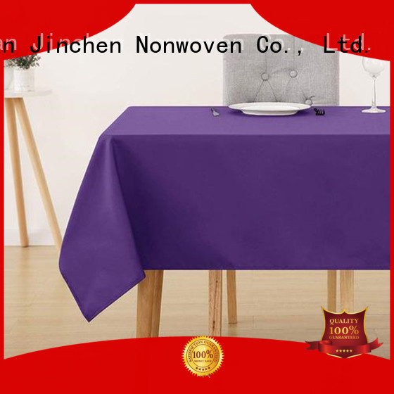 Jinchen tnt non woven fabric with printing for dinning room