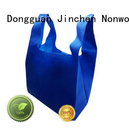 Jinchen degradable non woven shopping bag with customized logo for sale