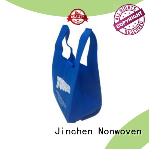 top u cut non woven bags with customized logo for supermarket