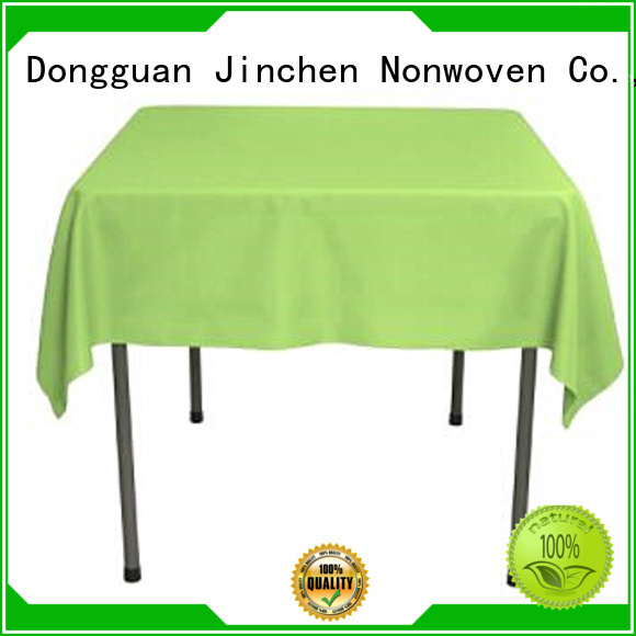 Jinchen high quality nonwoven tablecloth with printing for dinning room