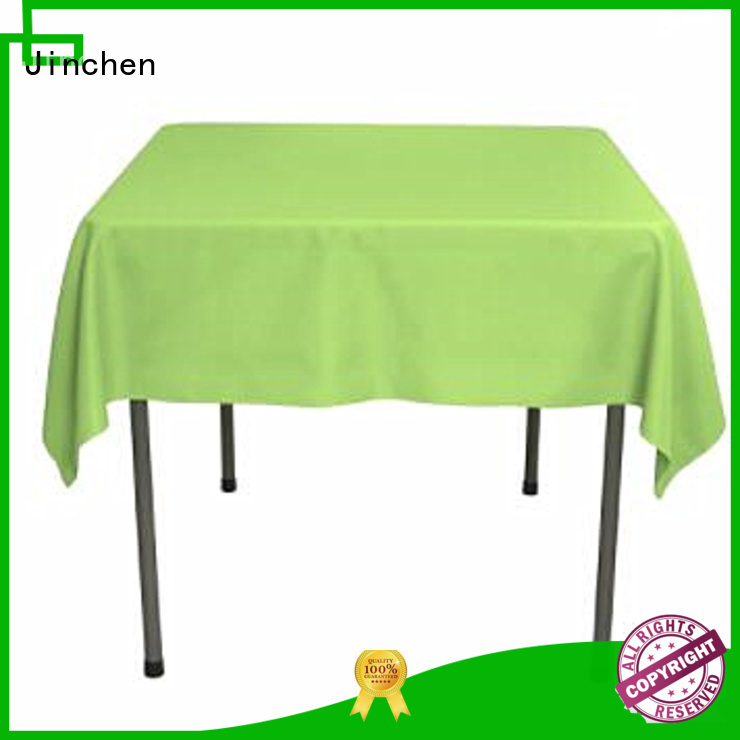 Jinchen new nonwoven tablecloth company for restaurant