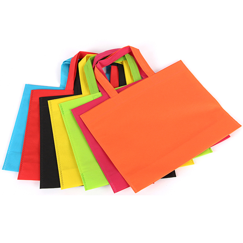Custom print reusable supermarket shopping non woven carry fabric bag