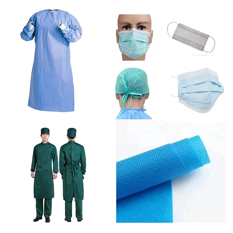 Medical pp non-woven surgical gown for antibacterial and anti-infection