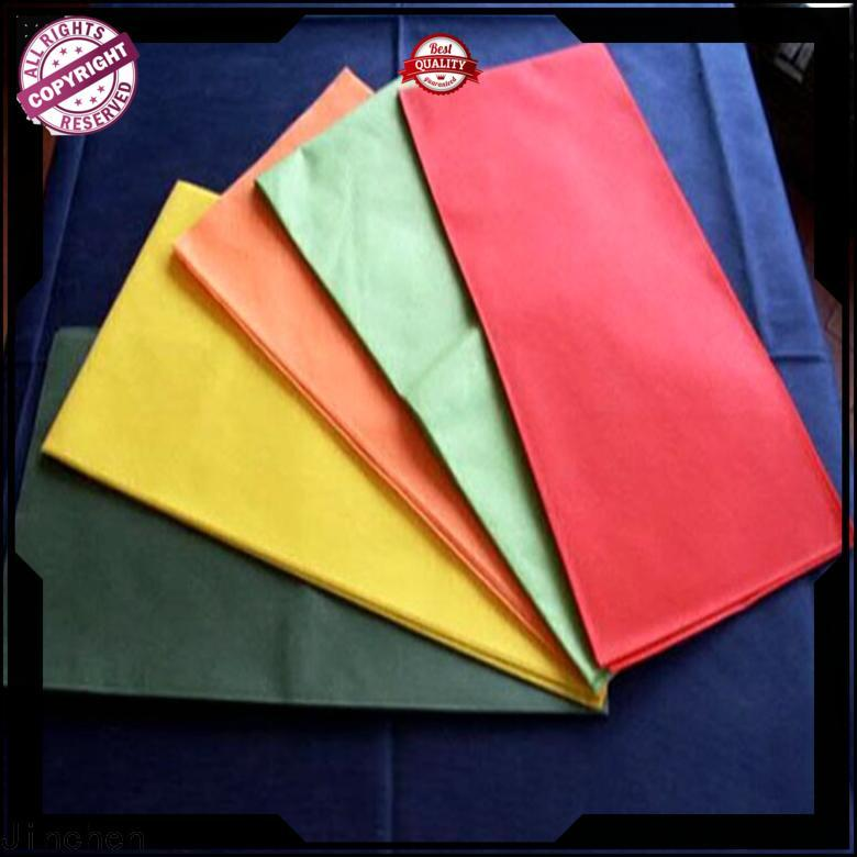 Jinchen top tnt non woven material with printing for restaurant