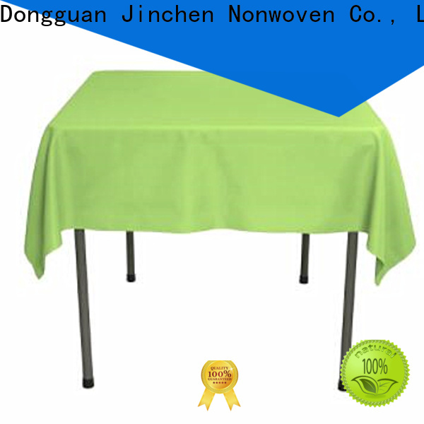 Jinchen non woven table covers for busniess for restaurant