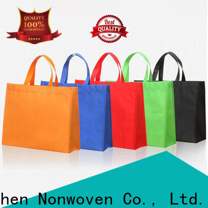 Jinchen u cut non woven bags with customized logo for supermarket