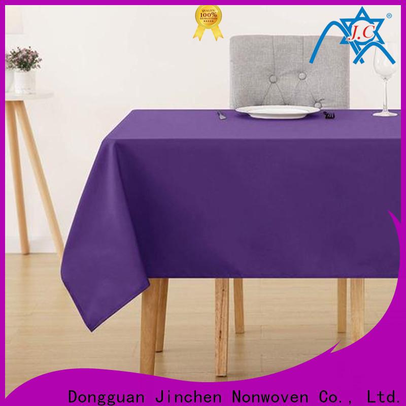 Jinchen waterproof fabric tablecloths manufacturer for sale