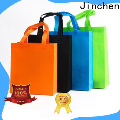 Jinchen recyclable non woven tote bags wholesale handbags for supermarket