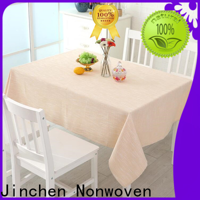 Jinchen nonwoven tablecloth with printing for restaurant