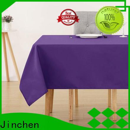 Jinchen waterproof non woven fabric tablecloth timeless design for restaurant