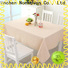 custom non woven fabric tablecloth producer for dinning room