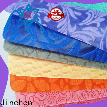 Jinchen non woven printed fabric rolls timeless design for furniture