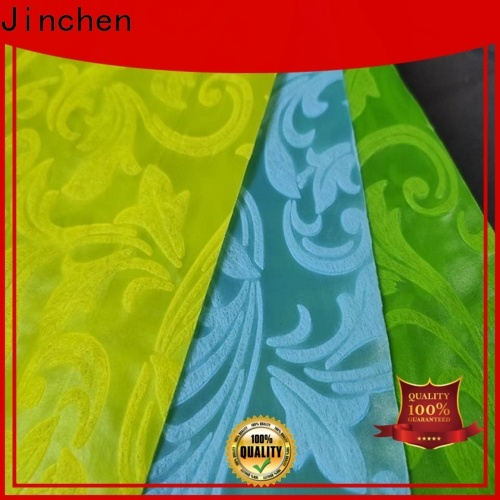 Jinchen colorful non woven printed fabric rolls one-stop services for furniture