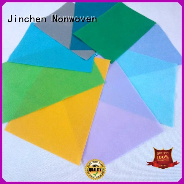 Jinchen colorful polypropylene spunbond nonwoven fabric company for furniture