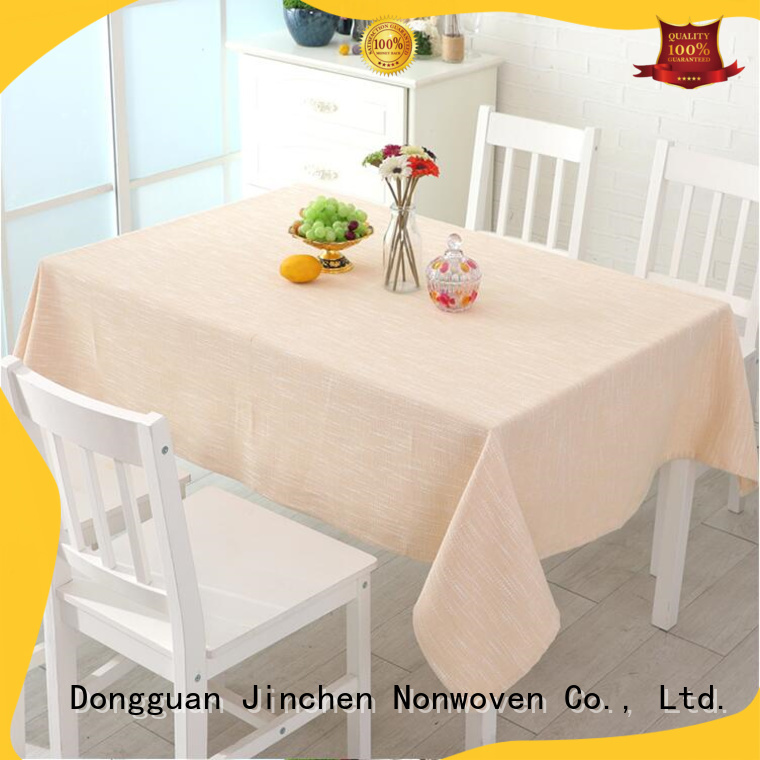 custom non woven fabric tablecloth with printing for dinning room