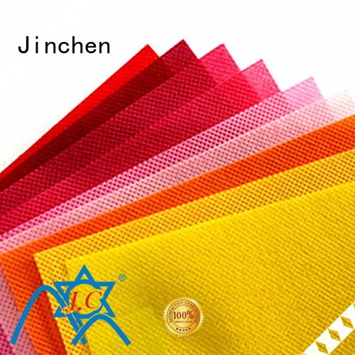 Jinchen virgin pp spunbond nonwoven fabric cloth for sale