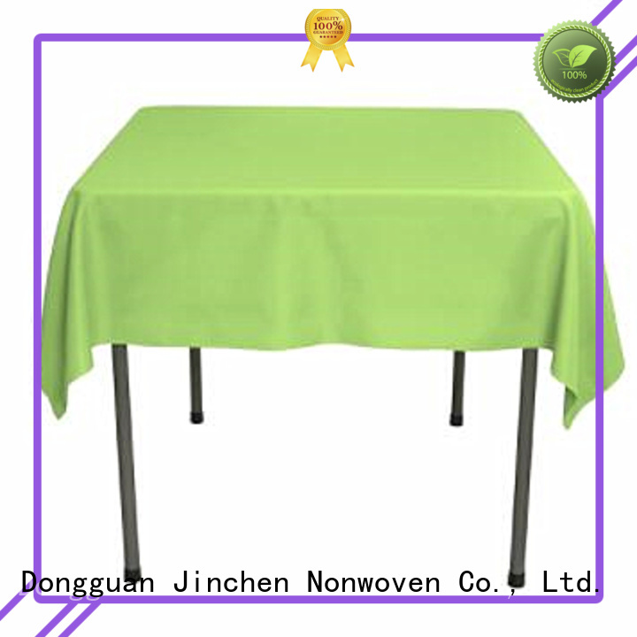 Jinchen fabric table cover for busniess for dinning room