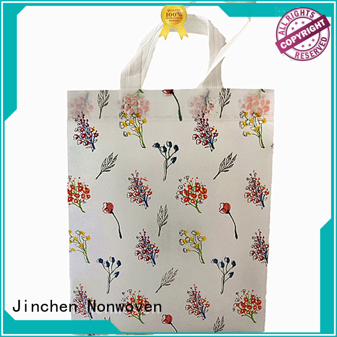Jinchen eco friendly pp non woven bags with customized logo for sale