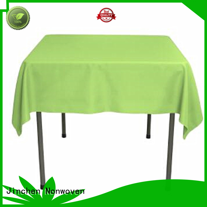 Jinchen high quality non woven table covers with customized service for restaurant
