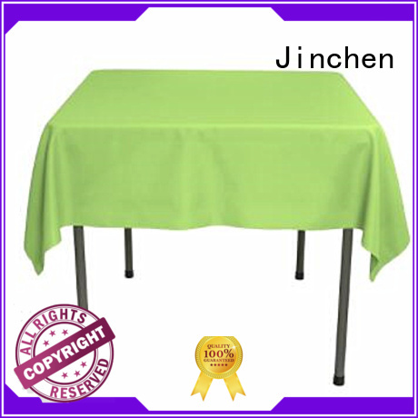 Jinchen waterproof fabric tablecloths with printing for sale